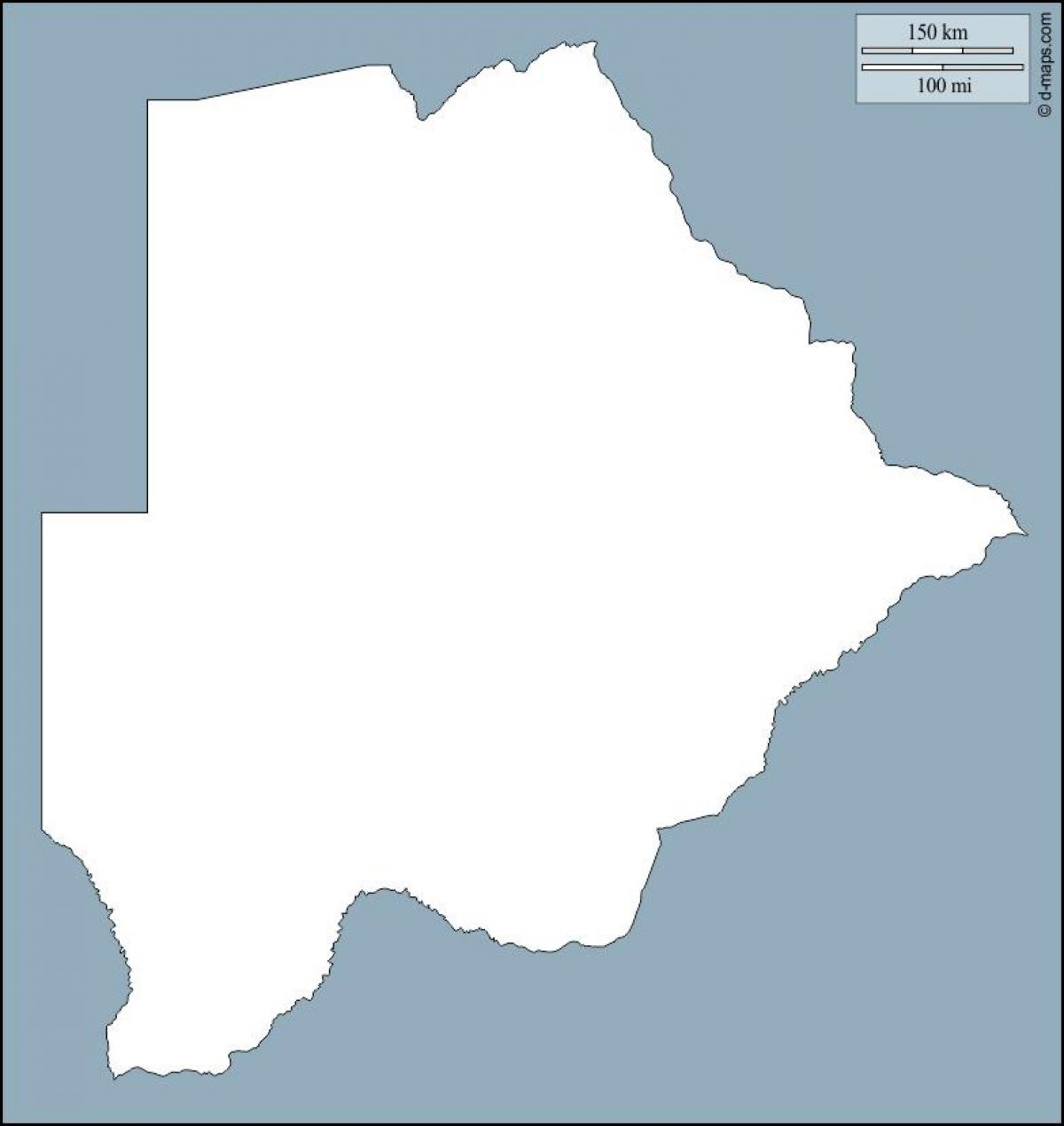map of Botswana map outline