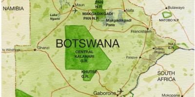 Map of Botswana game reserves