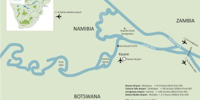 Map of kasane Botswana