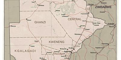 Detailed map of Botswana