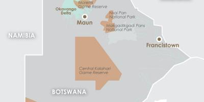 Map of maun Botswana